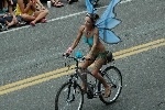 Seattle Fremont Parade Summer Solstice d'été nude cyclists 2008